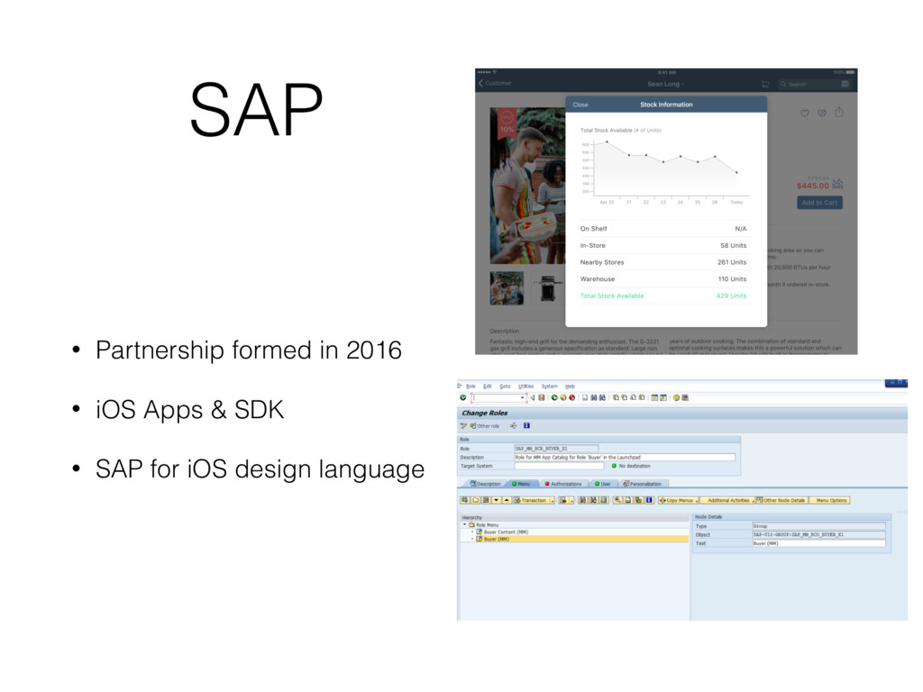 SAP • Partnership formed in 2016 • iOS Apps & S...