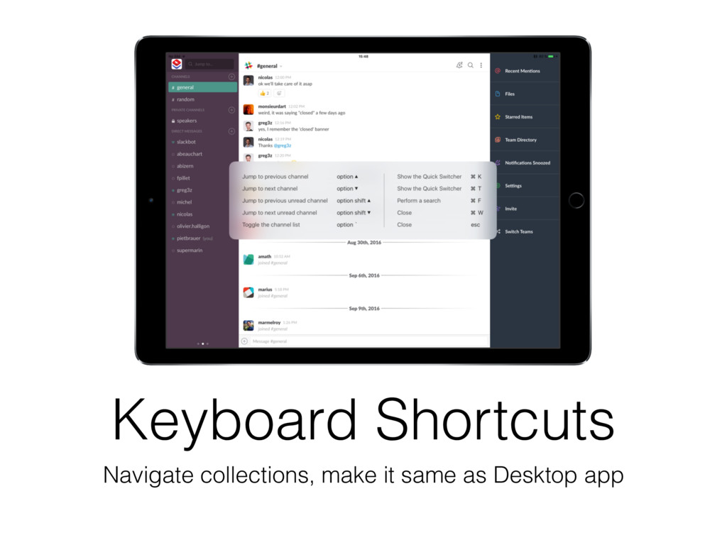 Keyboard Shortcuts Navigate collections, make i...