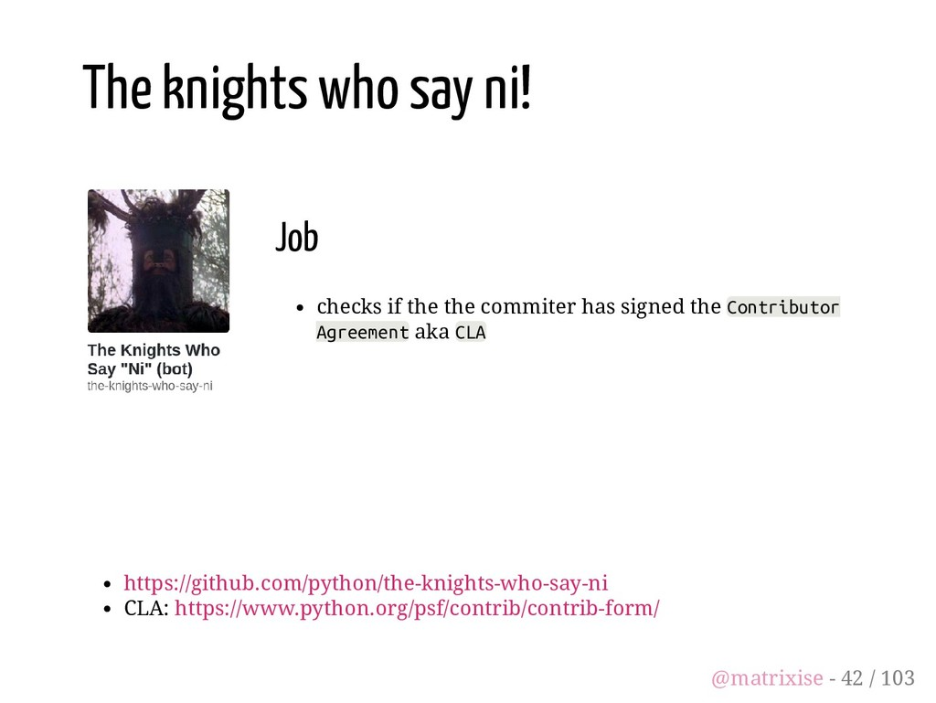 Job checks if the the commiter has signed the C...