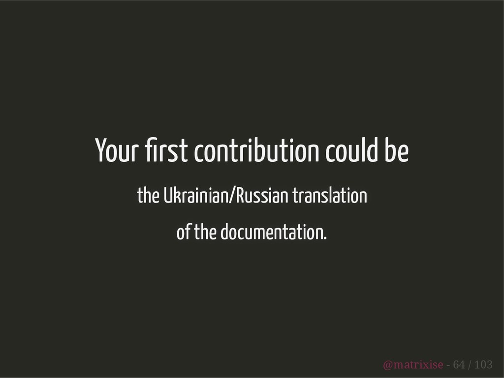 Your rst contribution could be the Ukrainian/Ru...