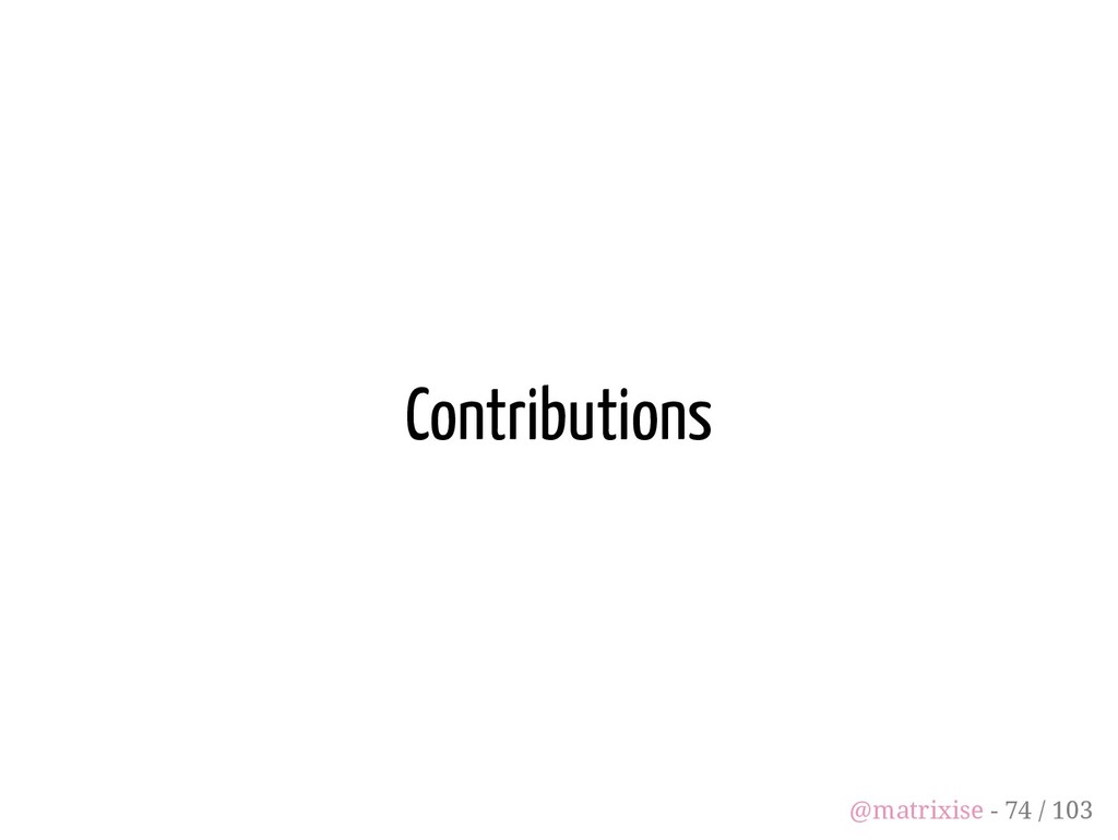 Contributions @matrixise - 74 / 103