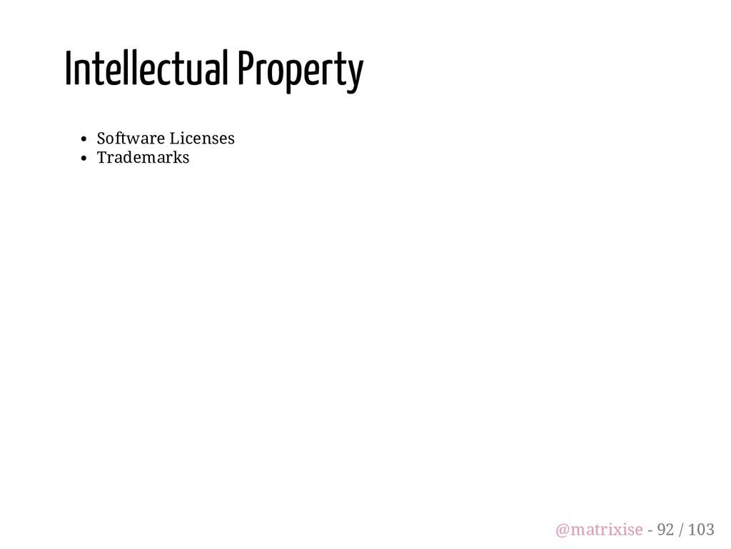 Intellectual Property Software Licenses Tradema...