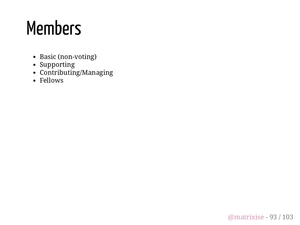 Members Basic (non-voting) Supporting Contribut...