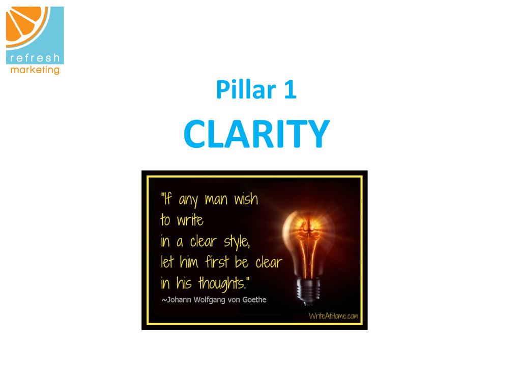 Pillar 1   CLARITY