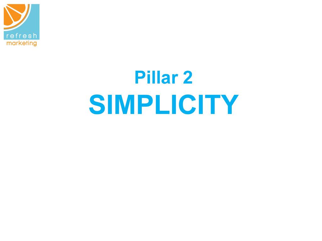 Pillar 2 SIMPLICITY