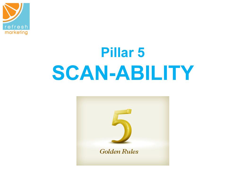 Pillar 5 SCAN-ABILITY
