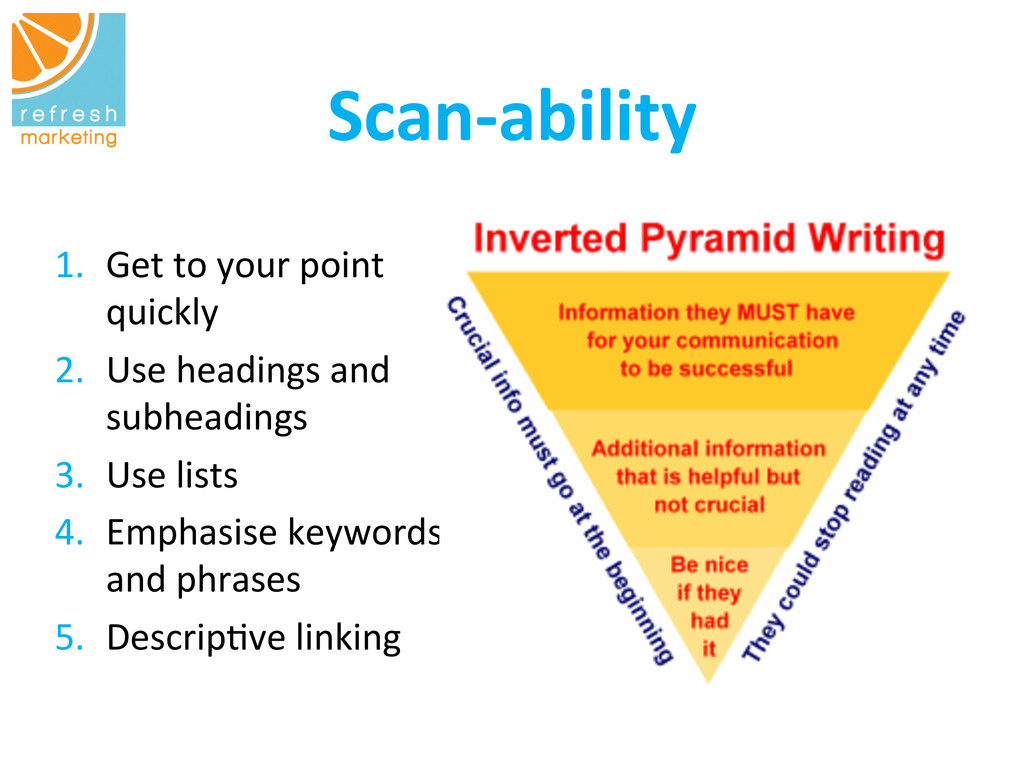 Scan-‐ability   1. Get to your po...