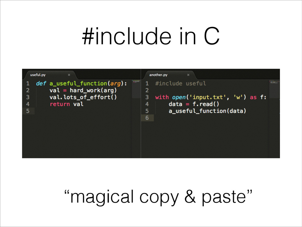 """magical copy & paste"" #include in C"