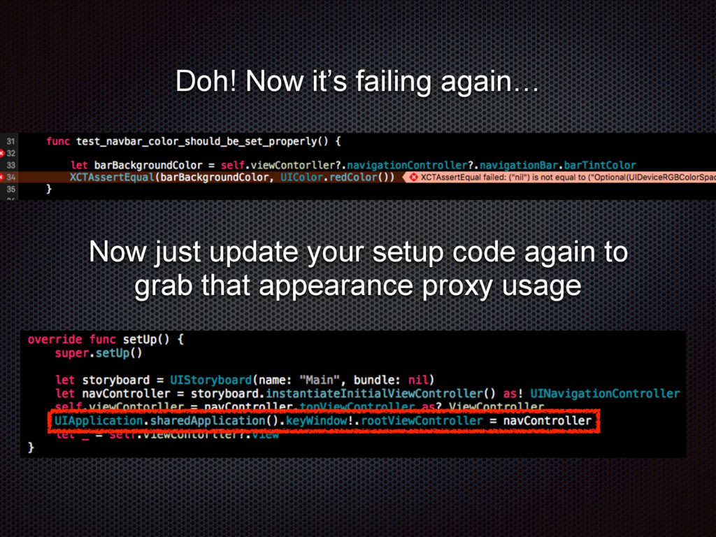 Now just update your setup code again to grab t...
