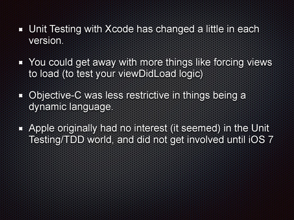 Unit Testing with Xcode has changed a little in...
