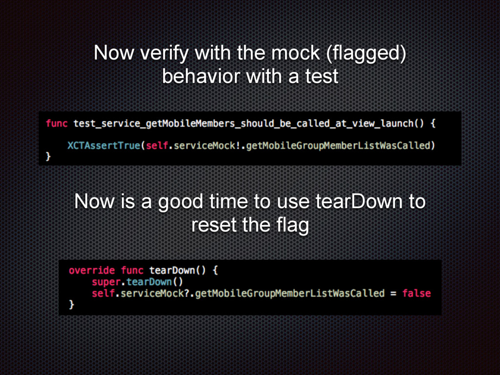 Now verify with the mock (flagged) behavior wit...