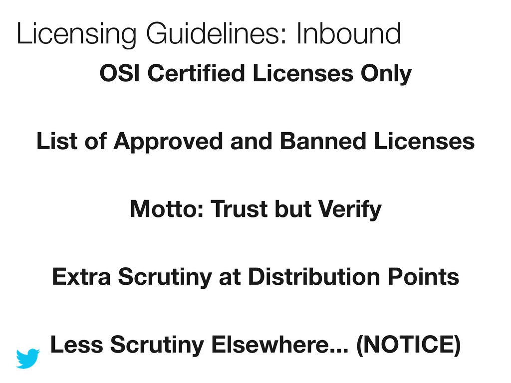 Licensing Guidelines: Inbound OSI Certified Lice...