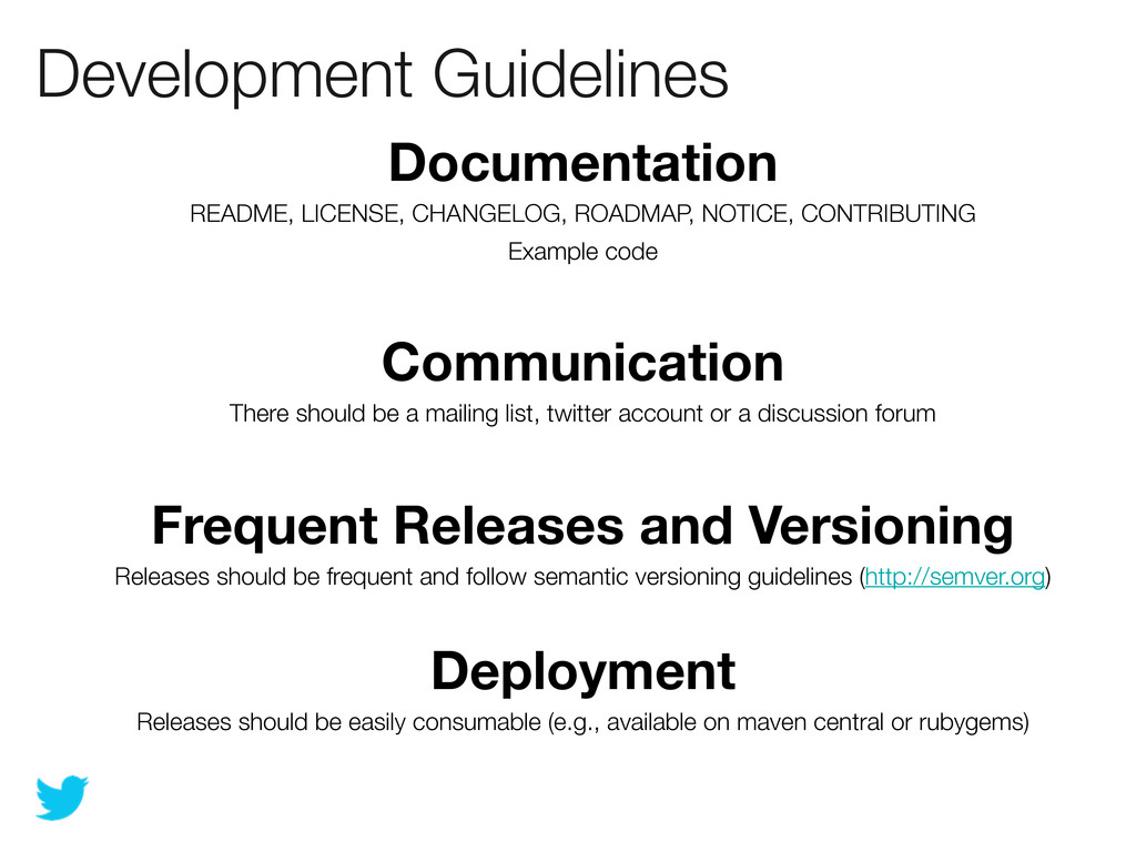 Development Guidelines Documentation README, LI...