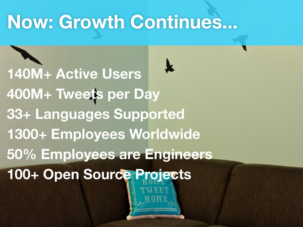 Now: Growth Continues... 140M+ Active Users 400...