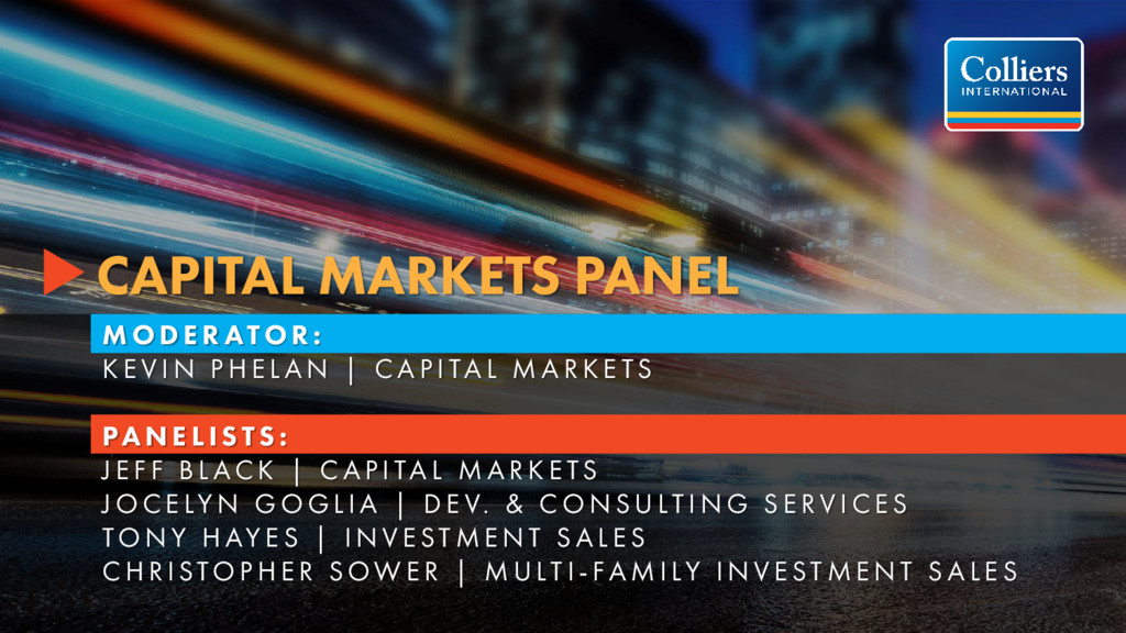 CAPITAL MARKETS PANEL M O D E R ATO R : K E V I...
