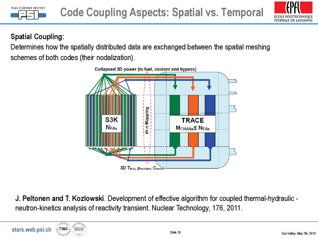 stars.web.psi.ch Slide 10 Code Coupling Aspects...