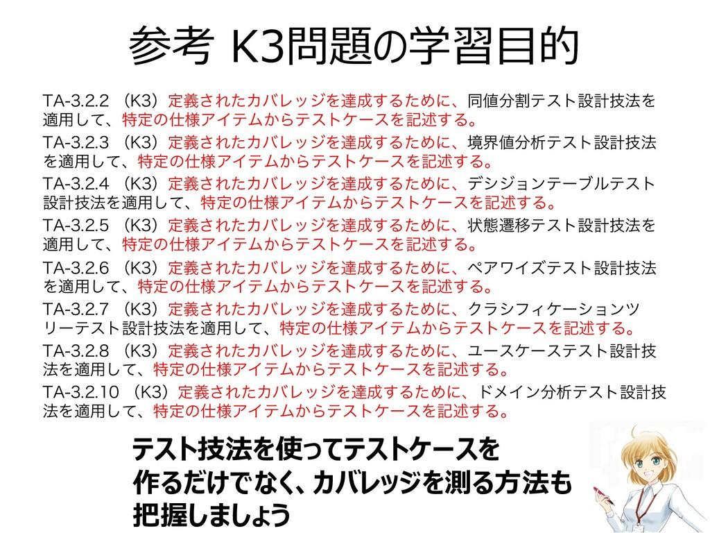 """参考 K3問題の学習⽬的 5""""ʢ,ʣఆٛ͞ΕͨΧόϨοδΛୡ͢ΔͨΊʹɺಉ..."""