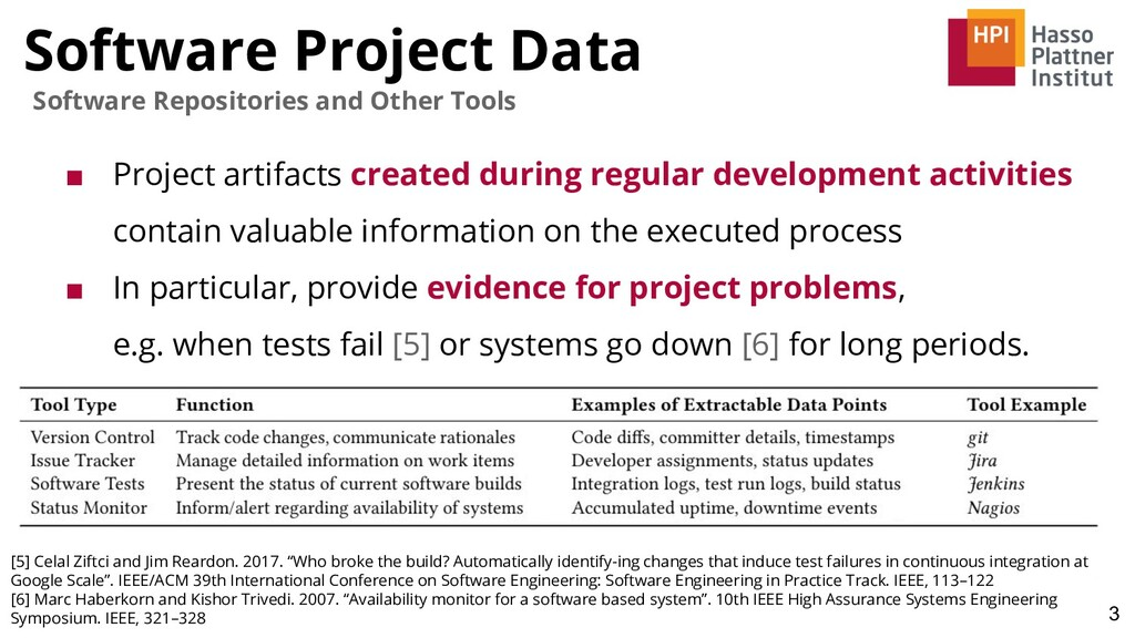 Software Project Data 3 Software Repositories a...