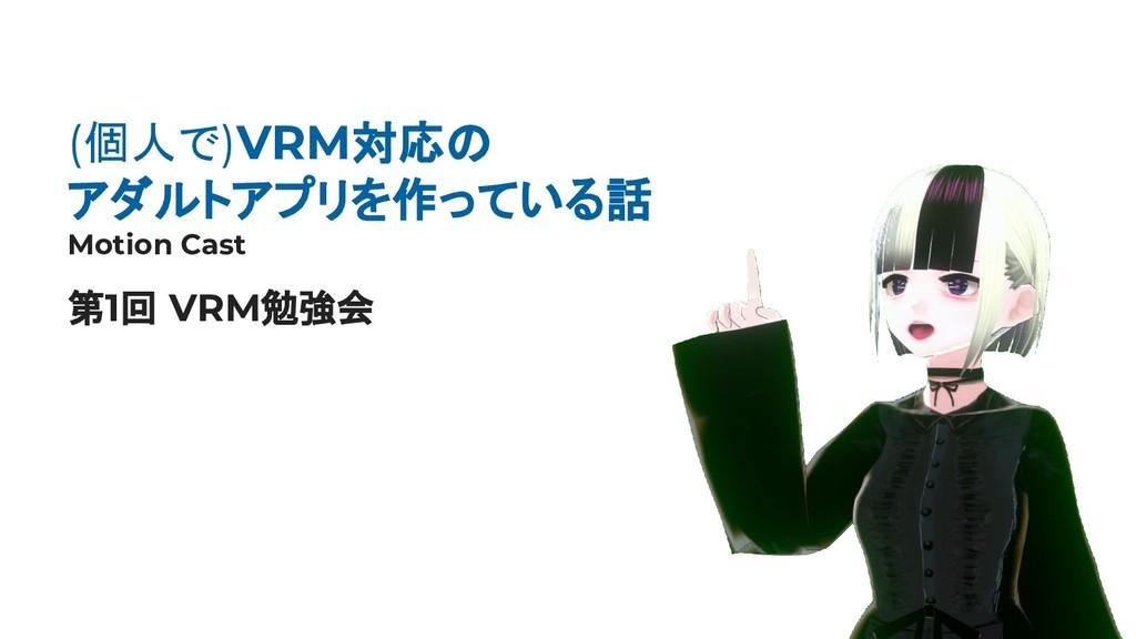 1 (個人で)VRM対応の アダルトアプリを作っている話 Motion Cast 第1回 VR...