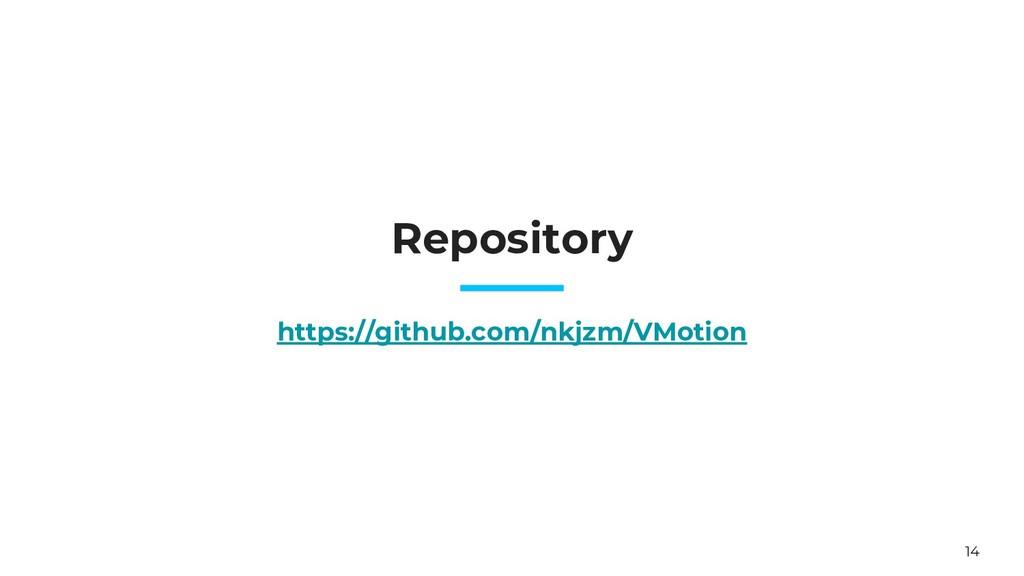 14 Repository https://github.com/nkjzm/VMotion