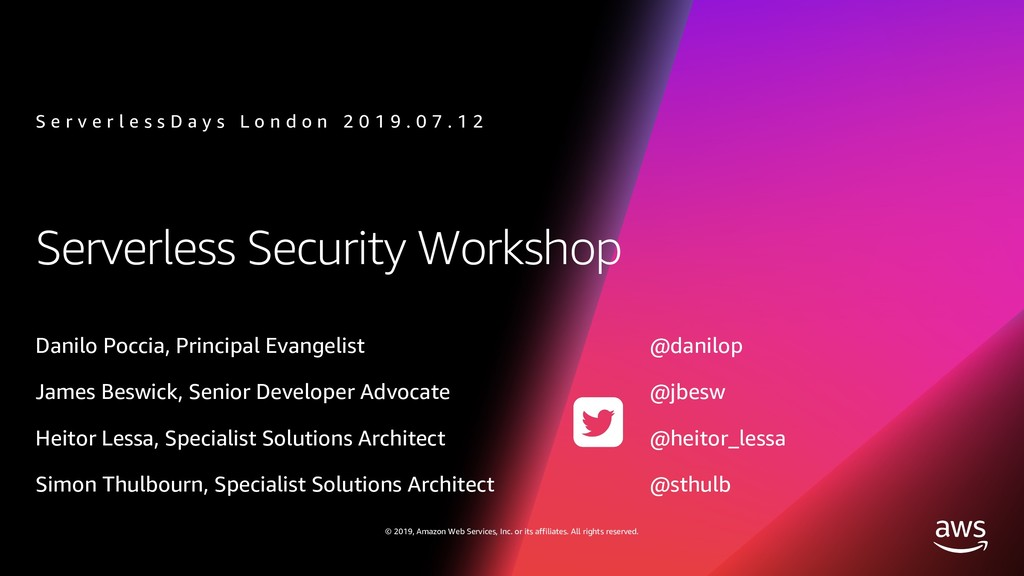 Serverless Security Workshop