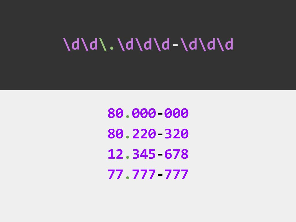 \d\d\.\d\d\d-\d\d\d 80.000-000 80.220-320 12.34...