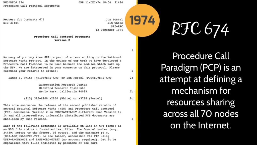 Procedure Call Paradigm (PCP) is an attempt at ...