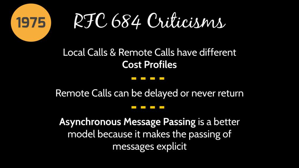 RFC 684 Criticisms Local Calls & Remote Calls h...