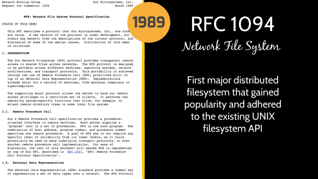 RFC 1094 First major distributed filesystem tha...
