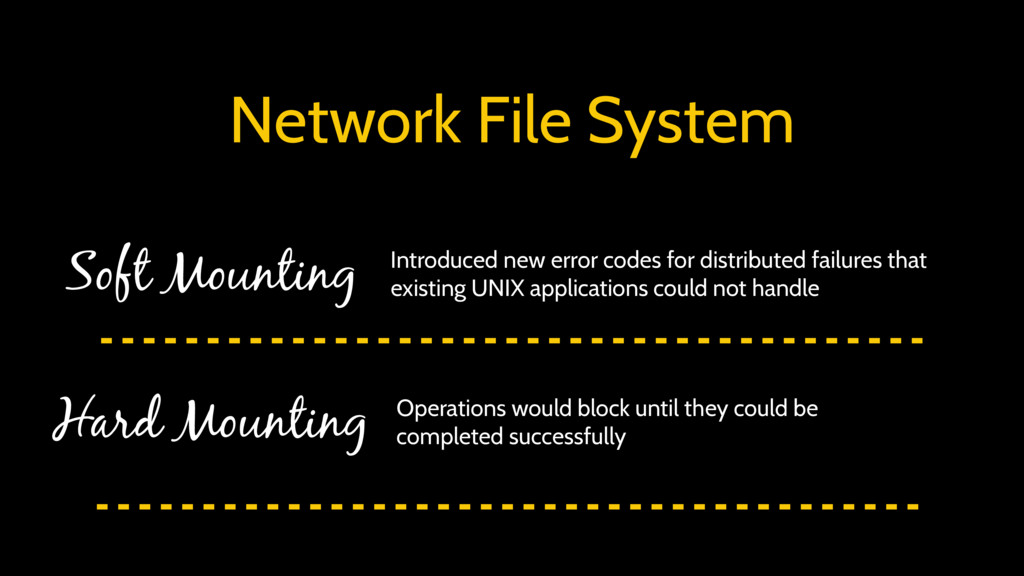 Network File System Soft Mounting Hard Mounting...