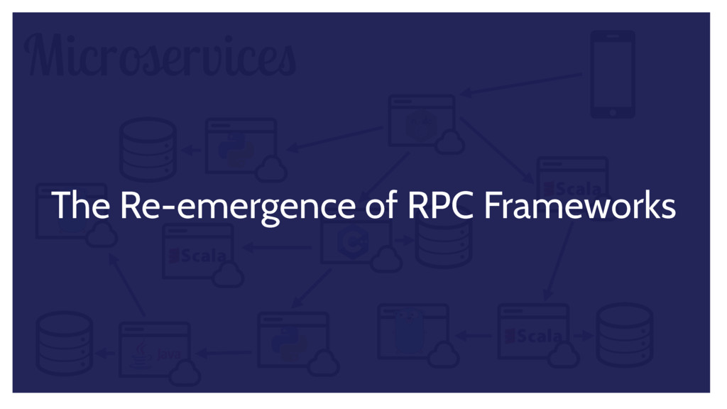 Microservices The Re-emergence of RPC Frameworks
