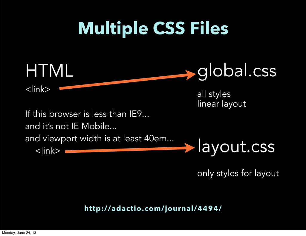Multiple CSS Files HTML <link> If this browser ...