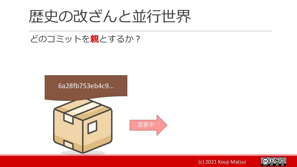 (c) 2021 Kouji Matsui 歴史の改ざんと並行世界 どのコミットを親とするか?...