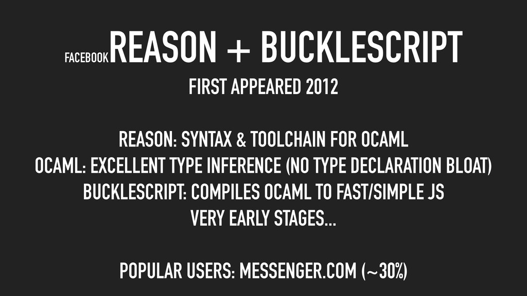 FIRST APPEARED 2012 REASON: SYNTAX & TOOLCHAIN ...