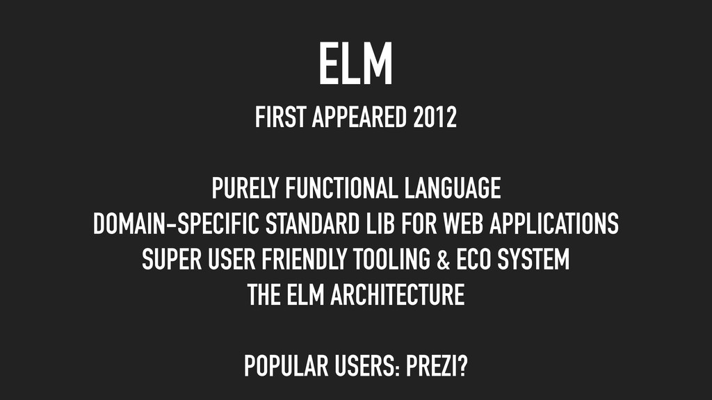 FIRST APPEARED 2012 PURELY FUNCTIONAL LANGUAGE ...