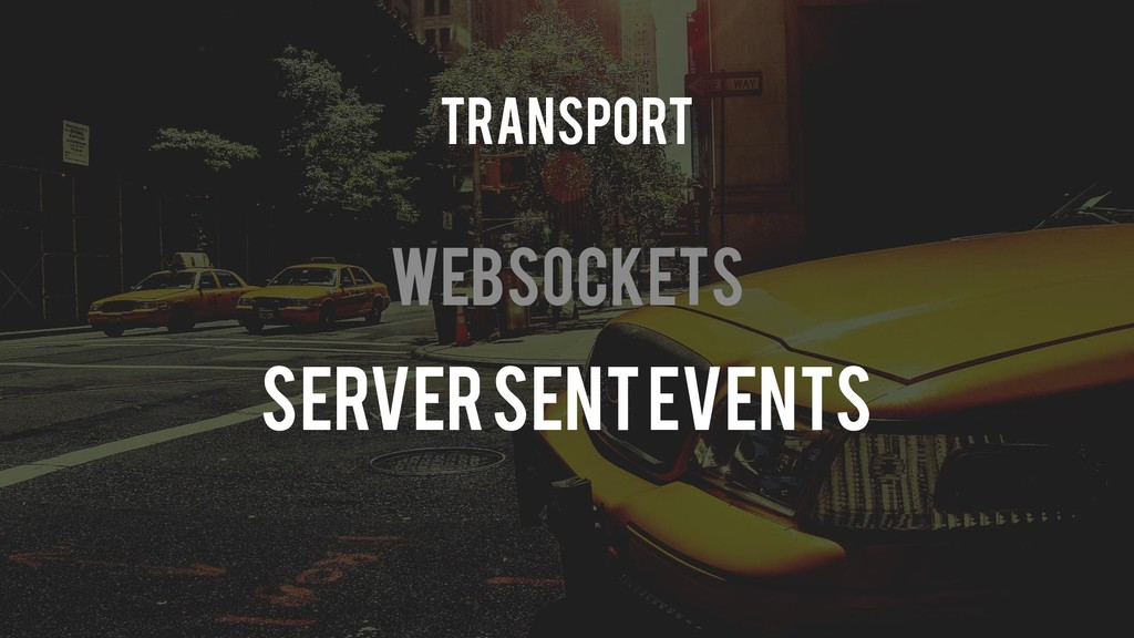 Websockets Server Sent Events Transport
