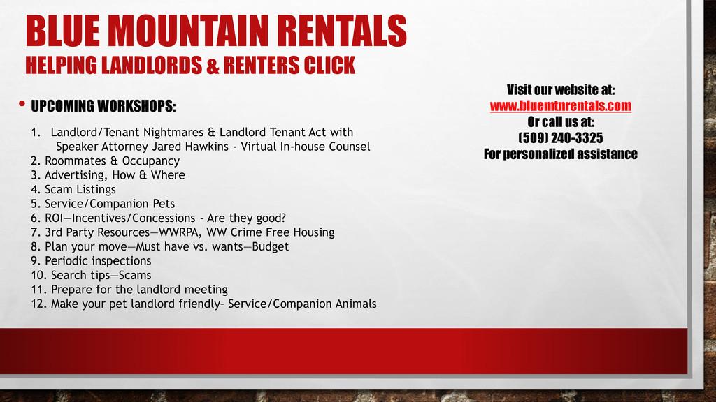 1. Landlord/Tenant Nightmares & Landlord Tenant...