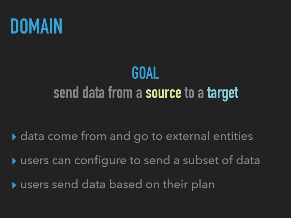 DOMAIN ▸ data come from and go to external enti...
