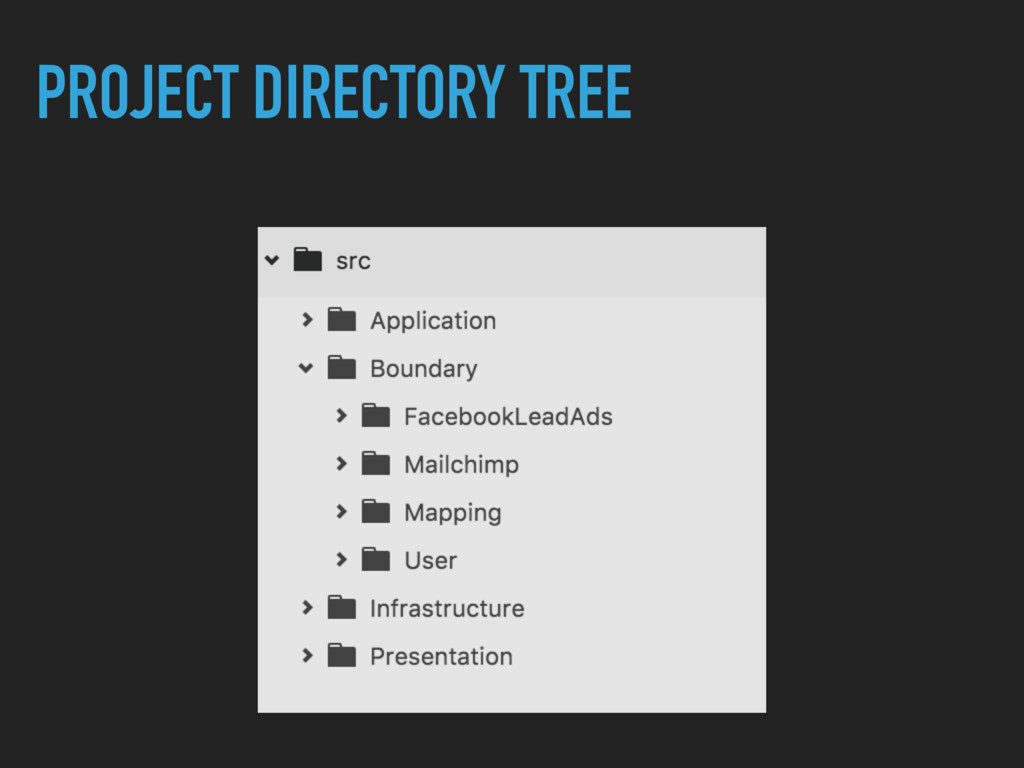 PROJECT DIRECTORY TREE