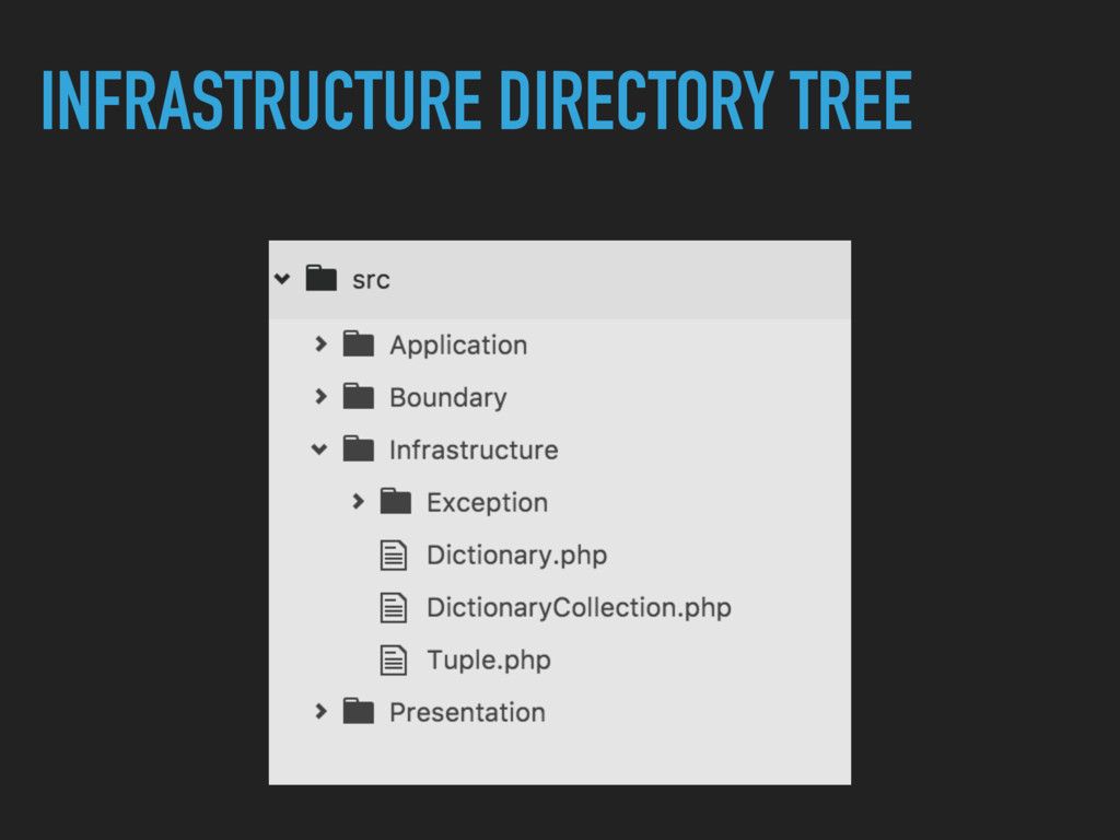 INFRASTRUCTURE DIRECTORY TREE