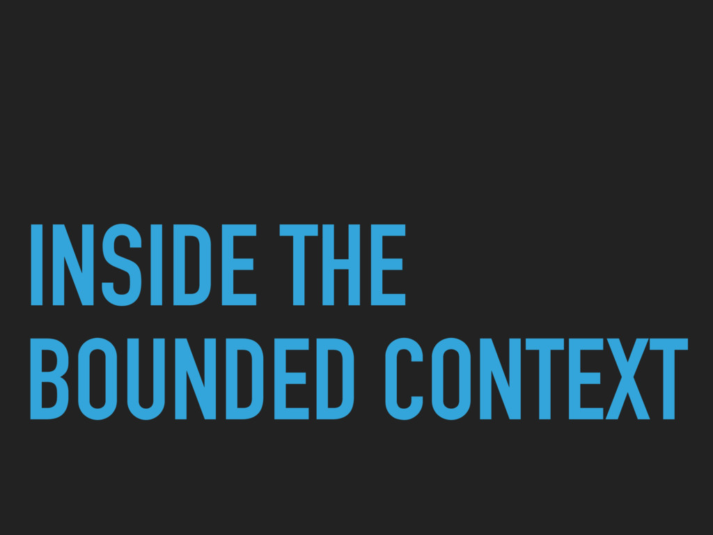 INSIDE THE BOUNDED CONTEXT