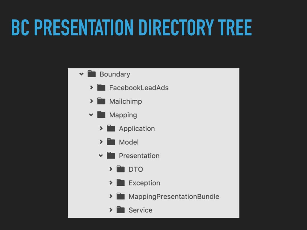 BC PRESENTATION DIRECTORY TREE