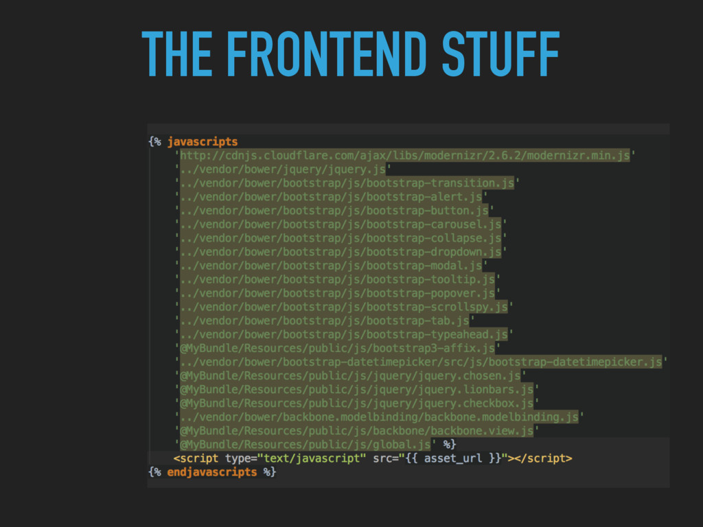 THE FRONTEND STUFF