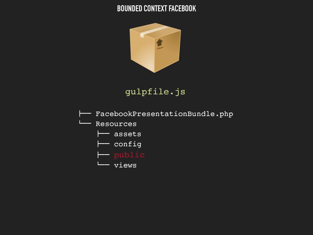 """BOUNDED CONTEXT FACEBOOK gulpfile.js """"## Facebo..."""