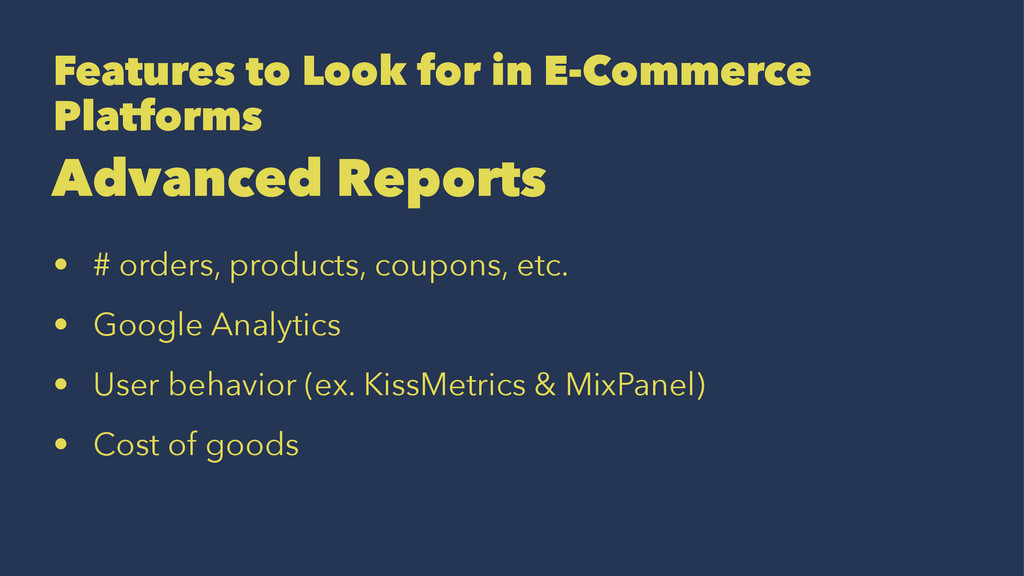 Features to Look for in E-Commerce Platforms Ad...