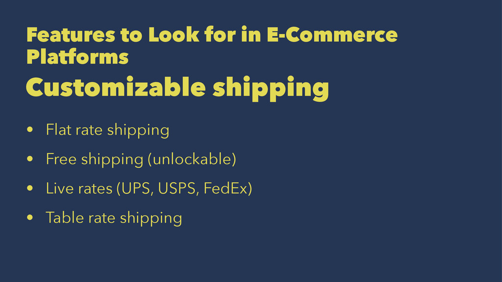 Features to Look for in E-Commerce Platforms Cu...