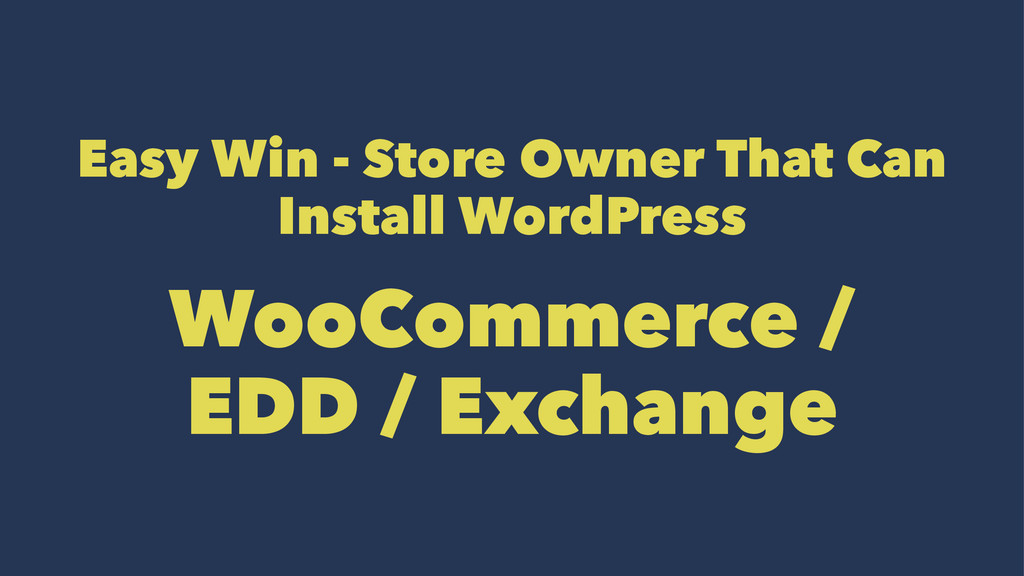 Easy Win - Store Owner That Can Install WordPre...