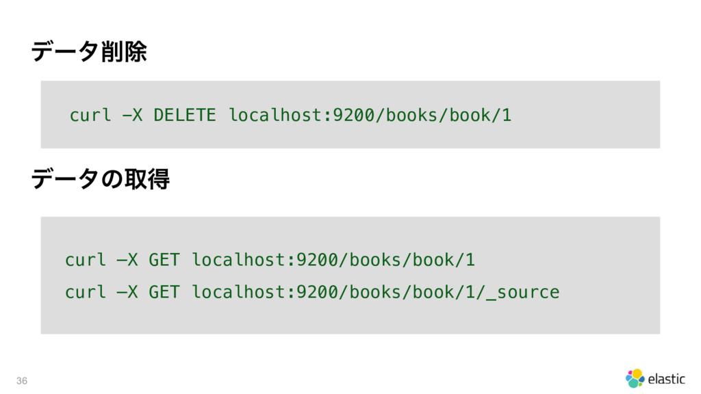 σʔλআ 36 curl -X DELETE localhost:9200/books/bo...