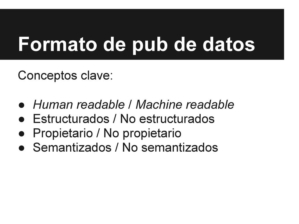 Formato de pub de datos Conceptos clave: ● Huma...