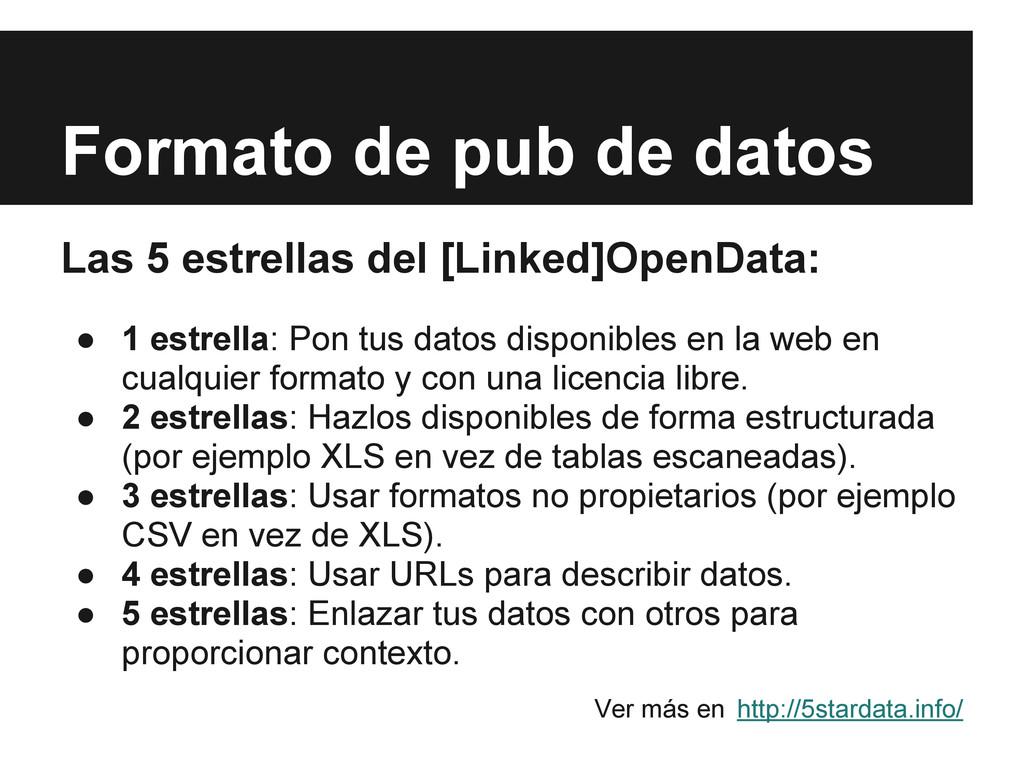 Formato de pub de datos Las 5 estrellas del [Li...